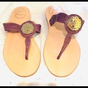 New Plum Jack Rogers With Gold Medallion